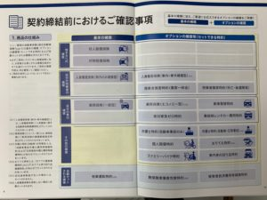 ソニー損保締結における確認事項チラシパンフレット